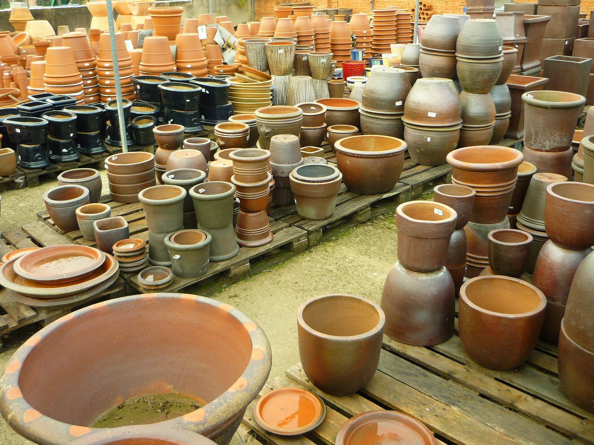 Unglazed Terracotta Pots