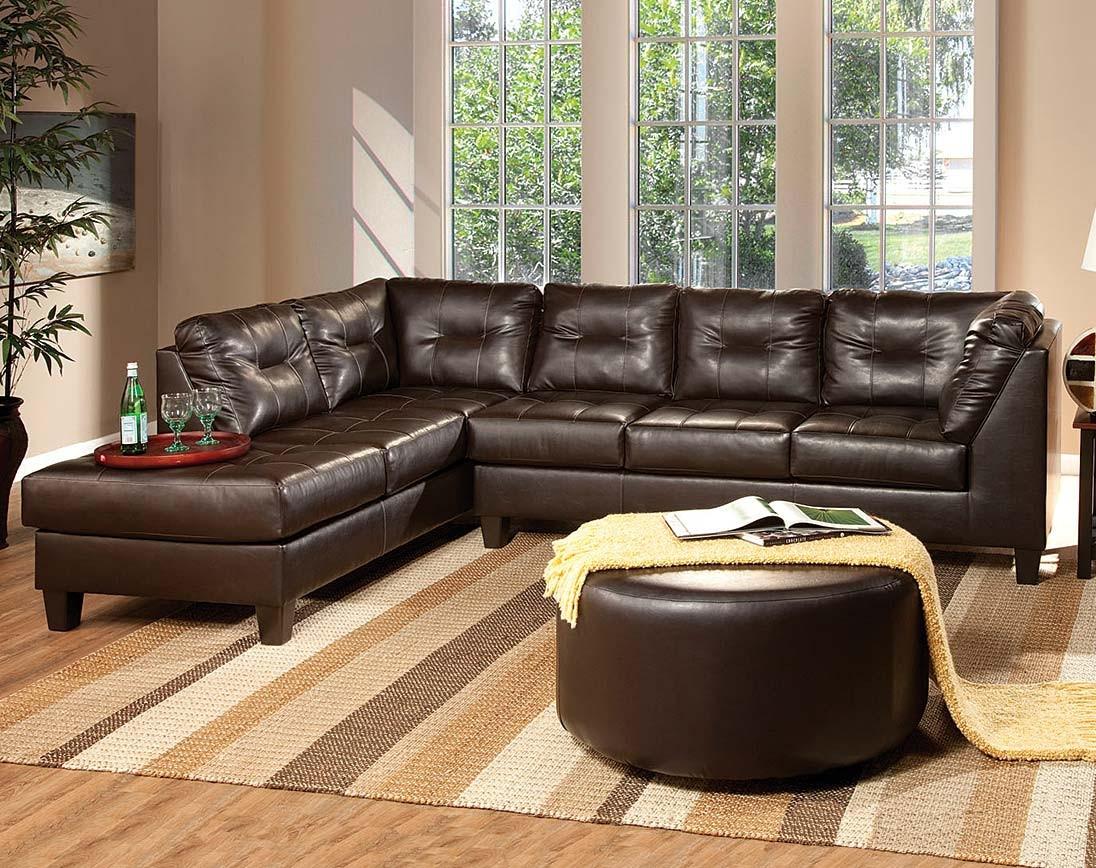 Small Brown Sectional Sofa