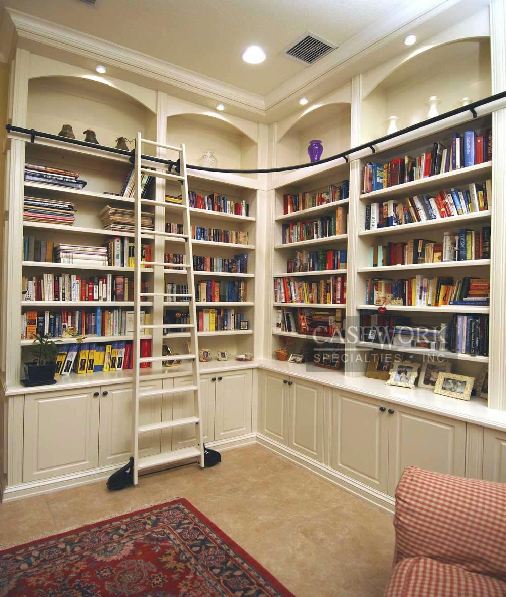 Tall White Corner Bookshelf