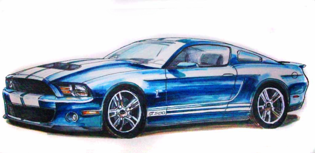 Cool Drawings Mustang Cars