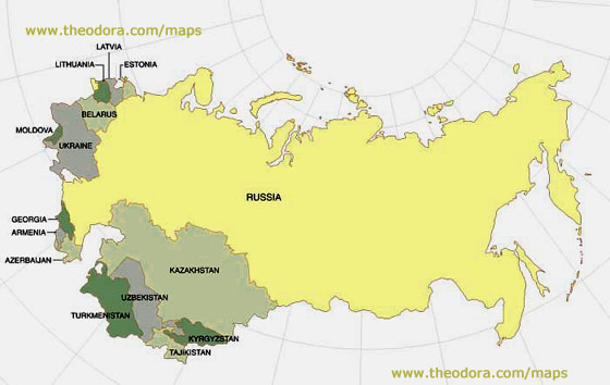 Climate Russia And Republics Map