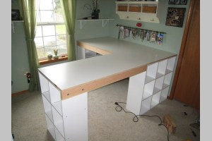 How To Build A Custom Craft Desk The Network Diy Custom Craft Desk Take Measurements Once Everything Is Framed