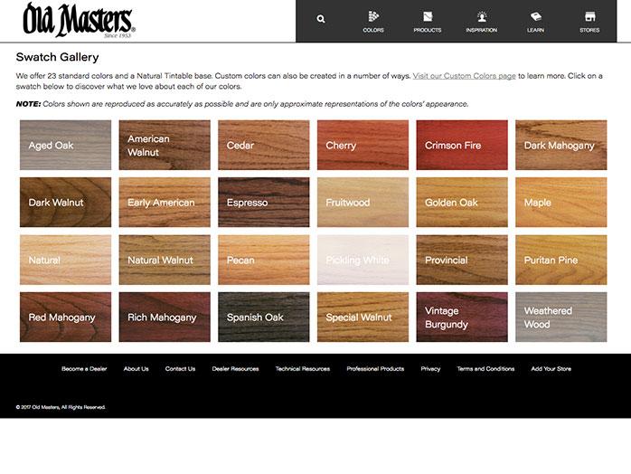 Color Espresso Chart Stain