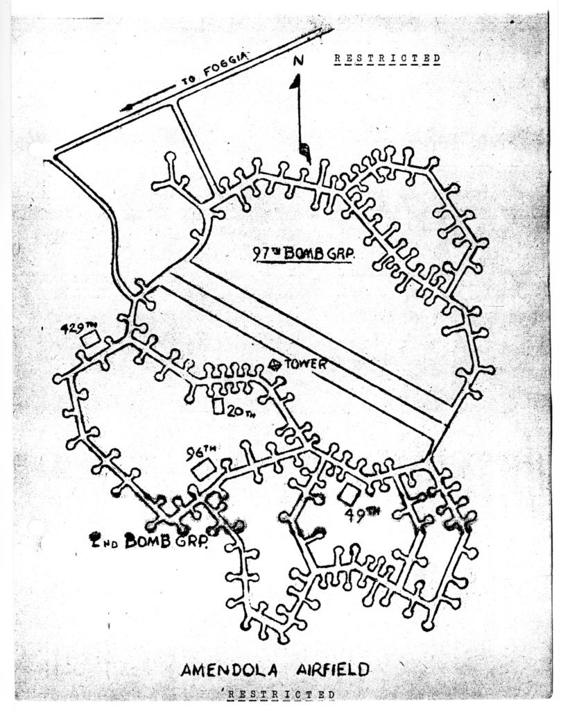 Map of amendola airfield