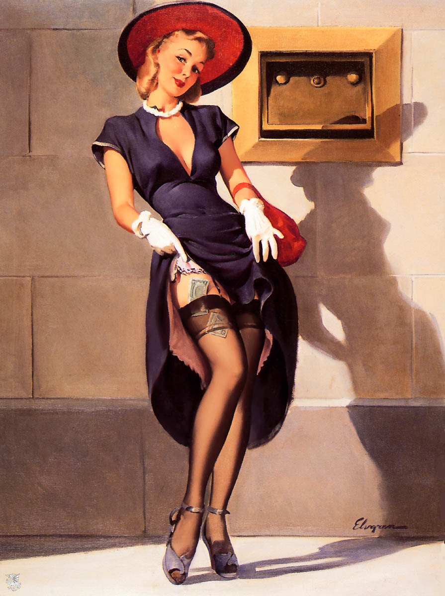 Pin Up Artist Gil Elvgren – Carpy's Cafe Racers