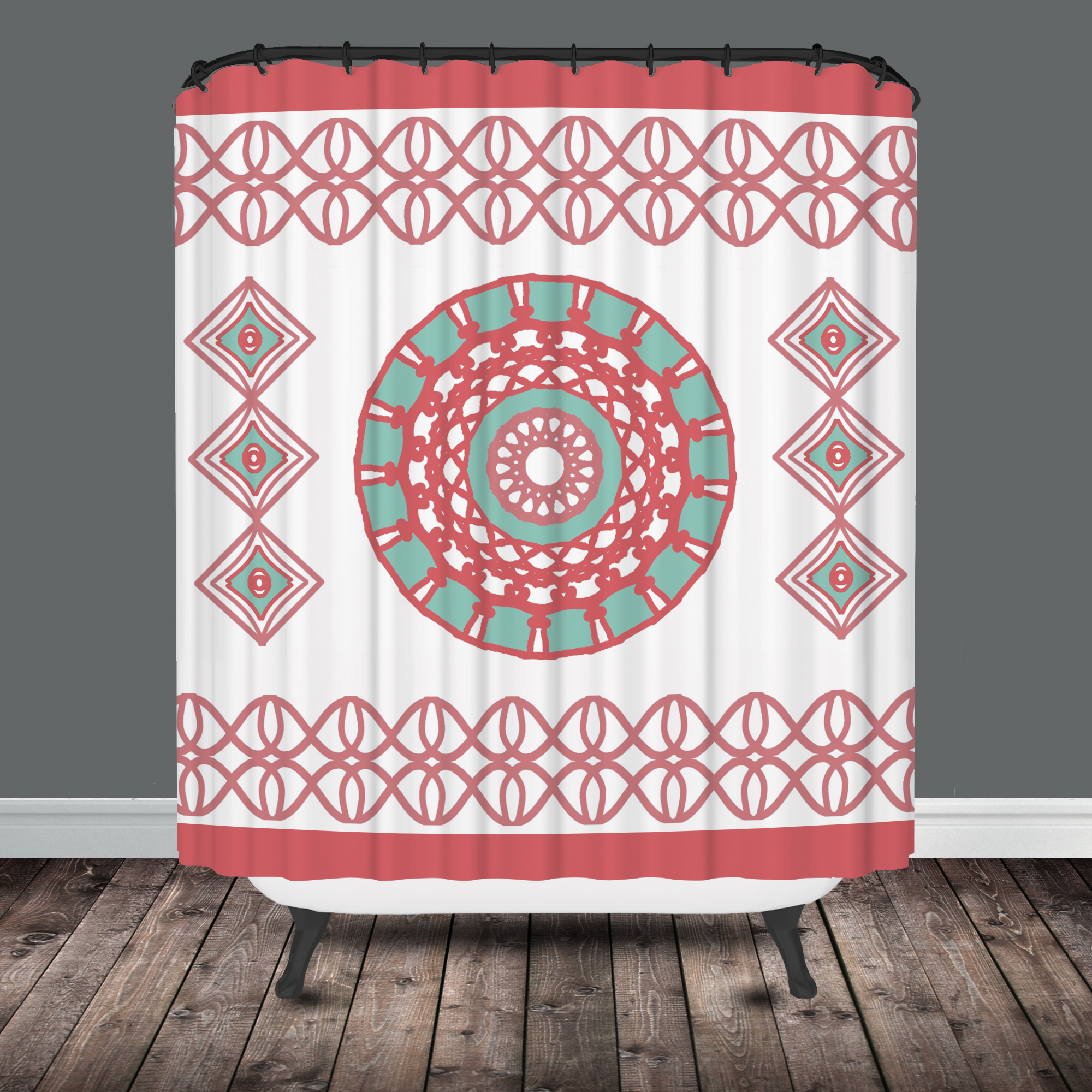 Madison Park Amherst Shower Curtain