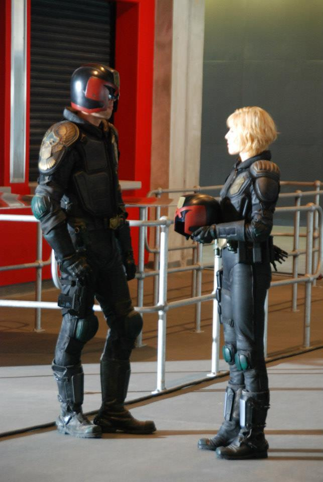 Judge Dredd 2012 Behind The Scenes Costumes Paint Some New