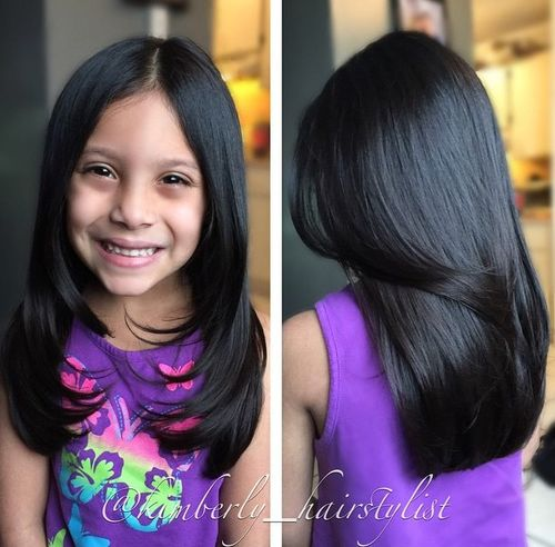 50 Cute Haircuts for Girls to Put You on Center Stage long girls  haircut with face framing layers