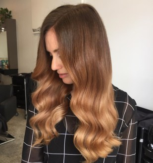 The Best Winter Hair Colors You ll Be Dying for in 2018 brown to caramel sombre