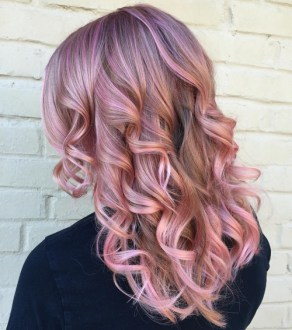 The Best Winter Hair Colors You ll Be Dying for in 2018 pastel lavender hair color with pink highlights