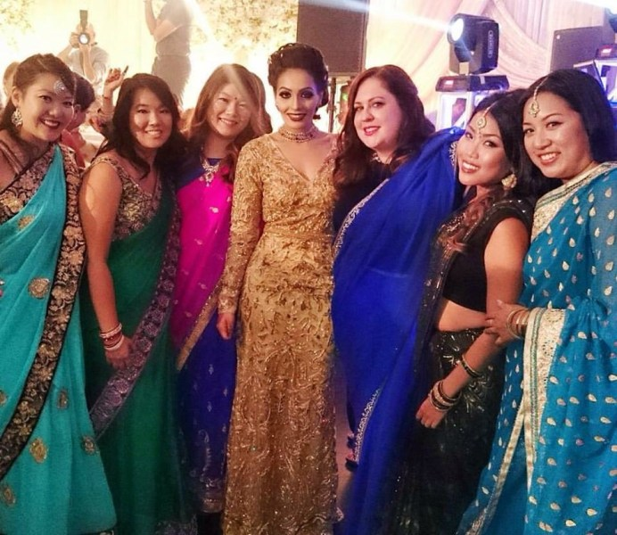 How to be a white girl at an Indian wedding   The Rill Girls With the beautiful bride