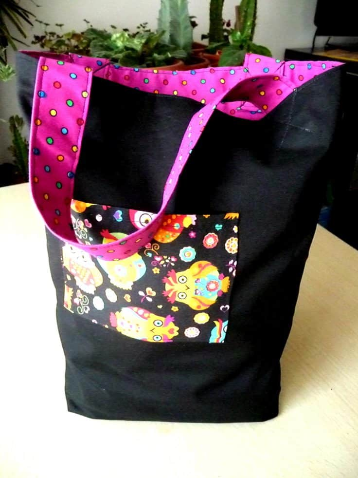 Easy sew trick or treat bag