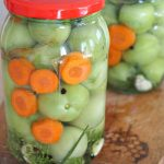 How to make pickled green tomatoes without vinegar