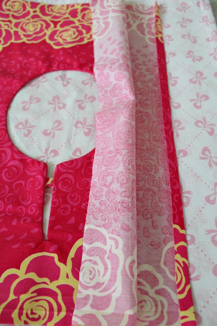 Fold fabric to finish seams