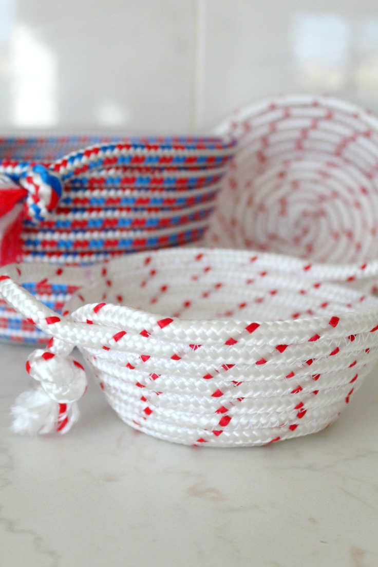 how to sew a rope bowl