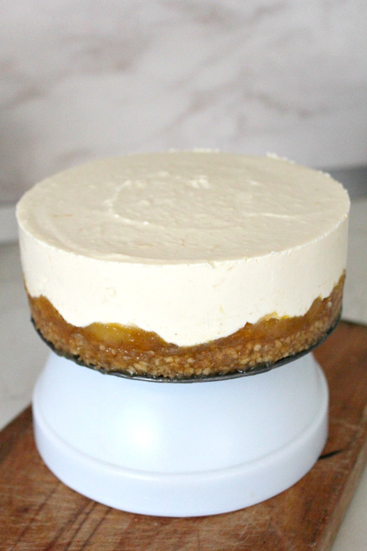 No bake orange apple cheesecake step 8