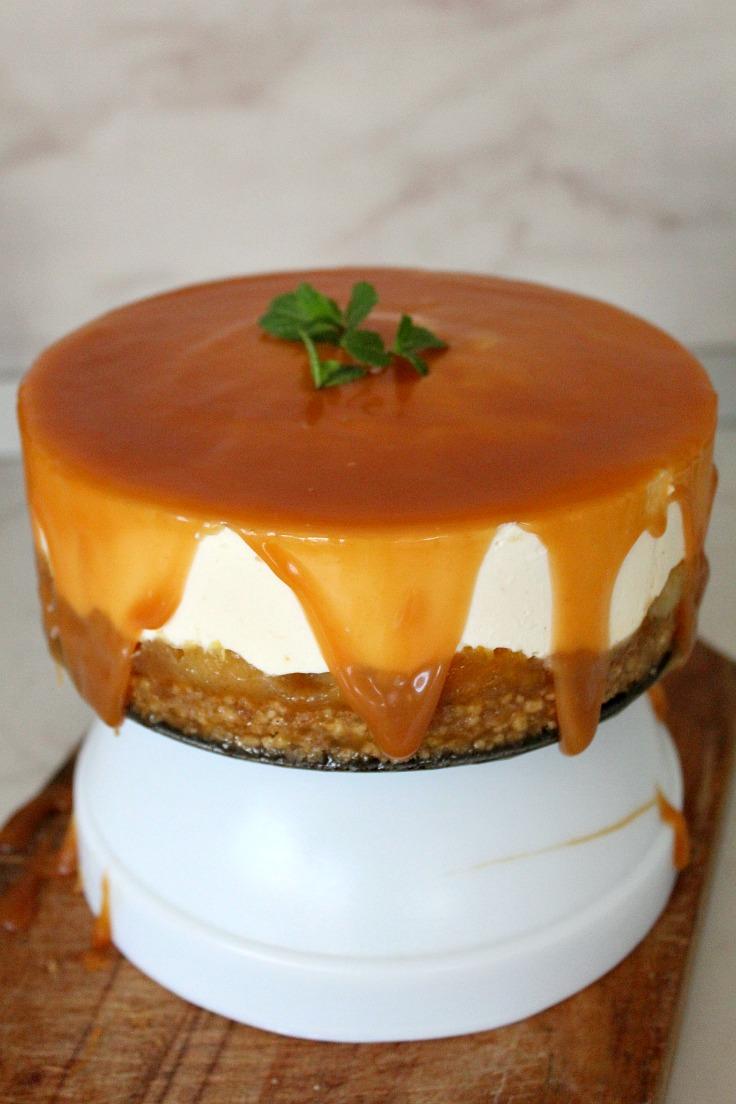 No bake orange apple cheesecake
