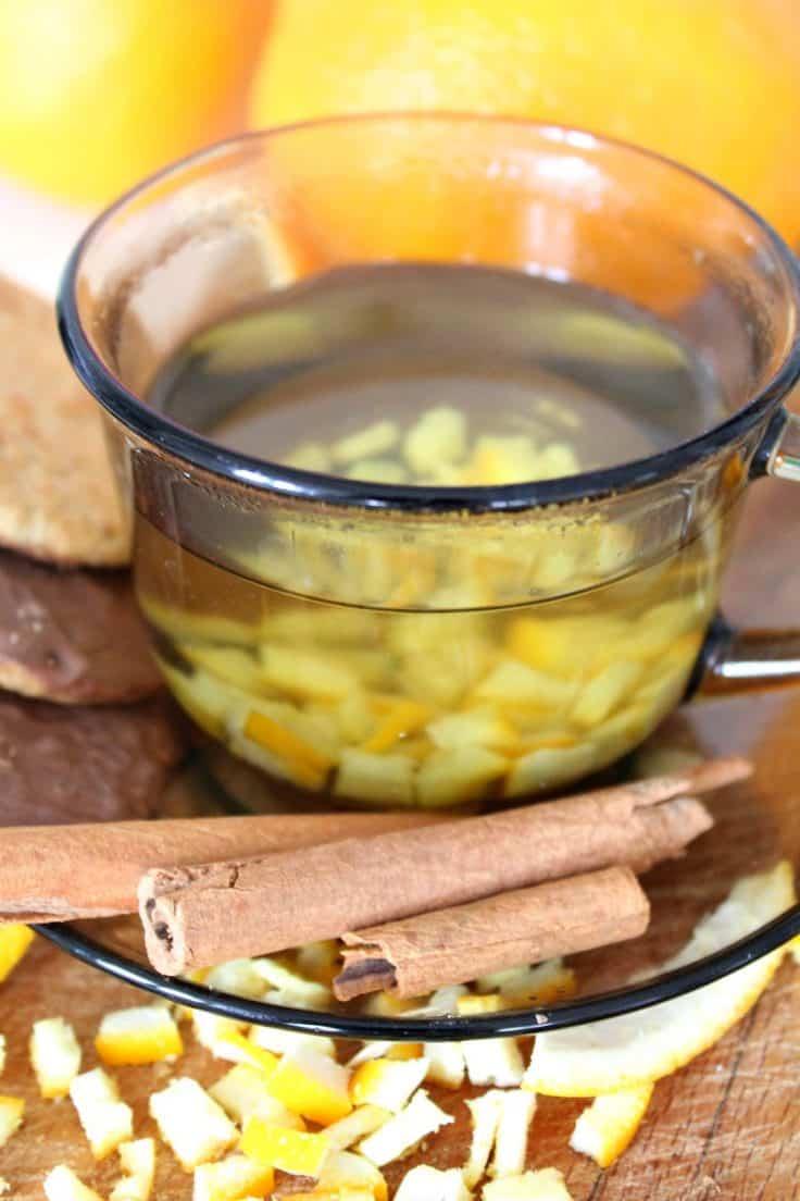 Orange peel tea recipe