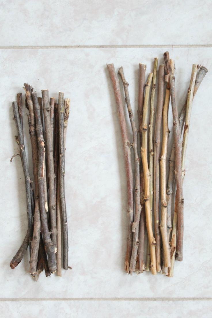 twigs for farmhouse photo frame