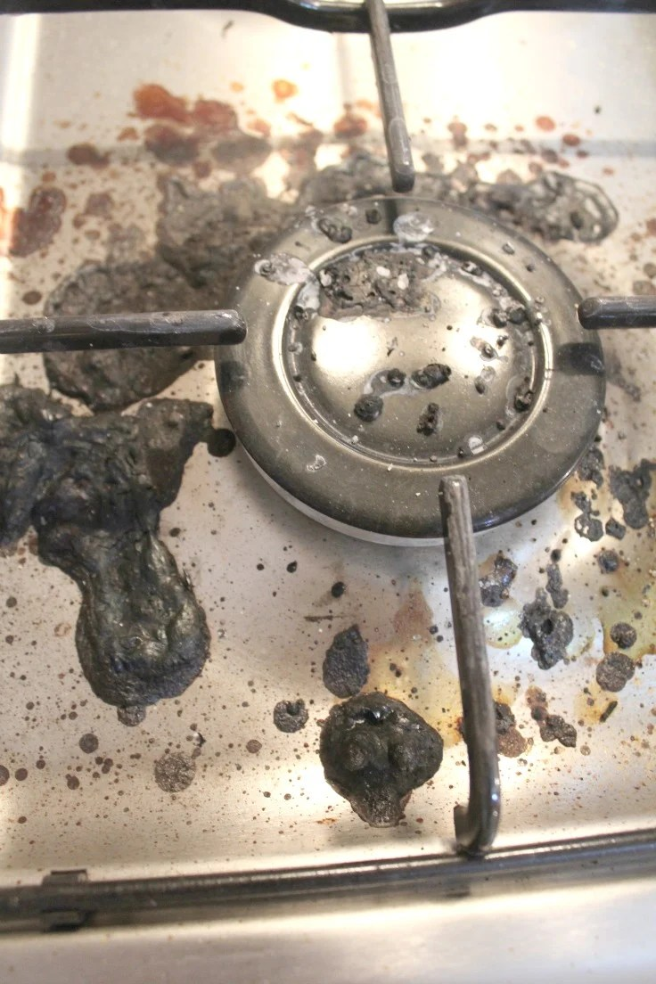 best way to clean a stove top