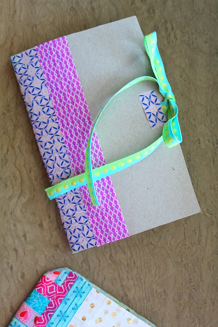 Recycled cereal box notebook