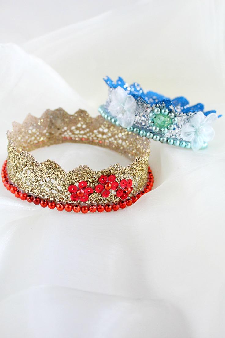 lace crown diy