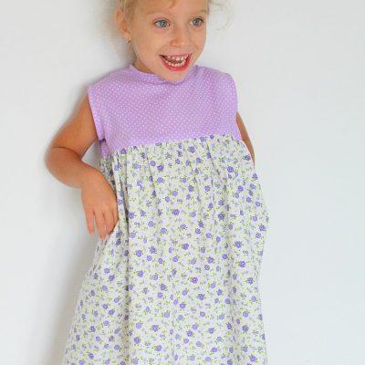 Girls Gathered Dress Sewing Pattern