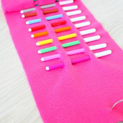 DIY no sew pencil roll case
