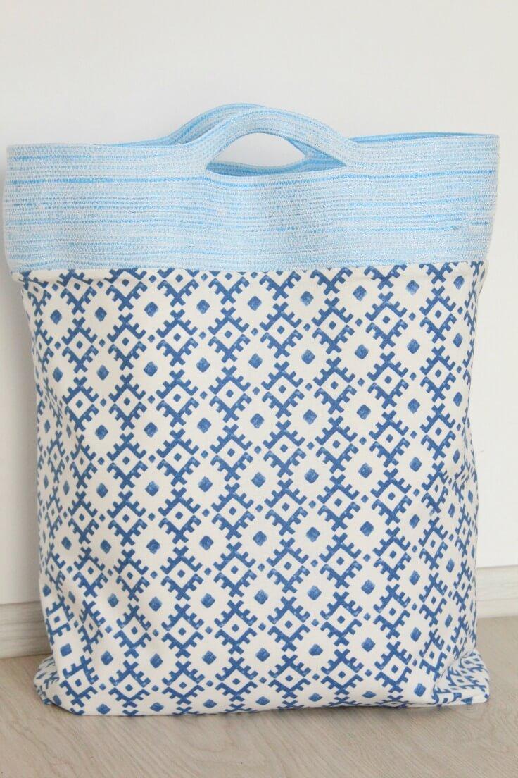 Rope Handle Tote Bag Tutorial
