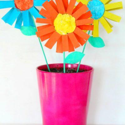 DIY Paper Flowers For Kids