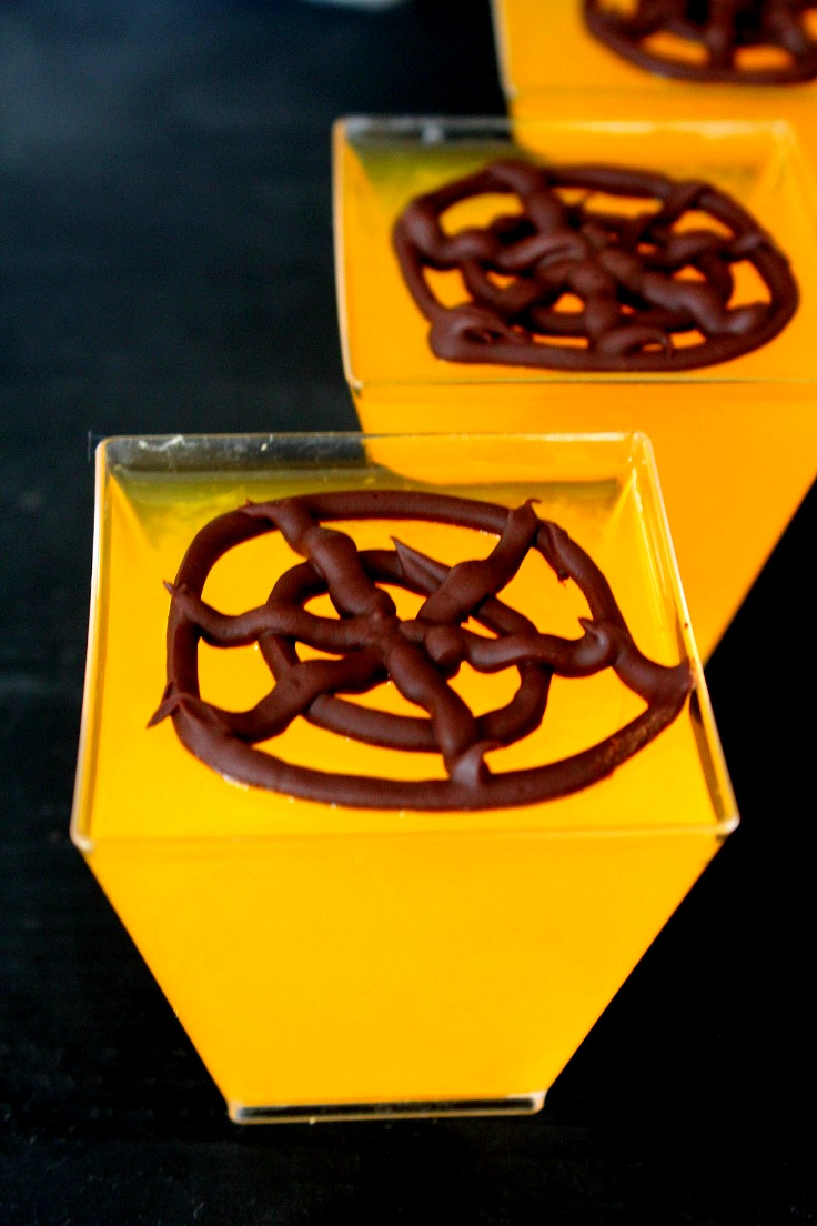 Chocolate Spider Web Jellies