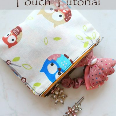 Lined Zipper Pouch Sewing Tutorial