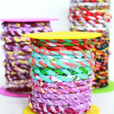 DIY Fabric Twine from fabric scraps