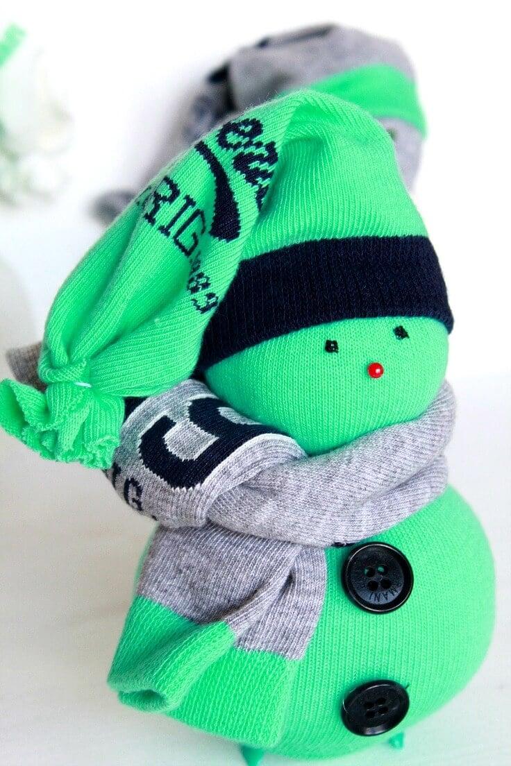sock snowman instructions