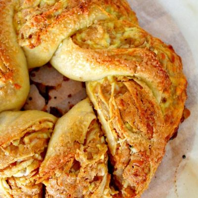Peanut butter goat cheese crescent ring recipe