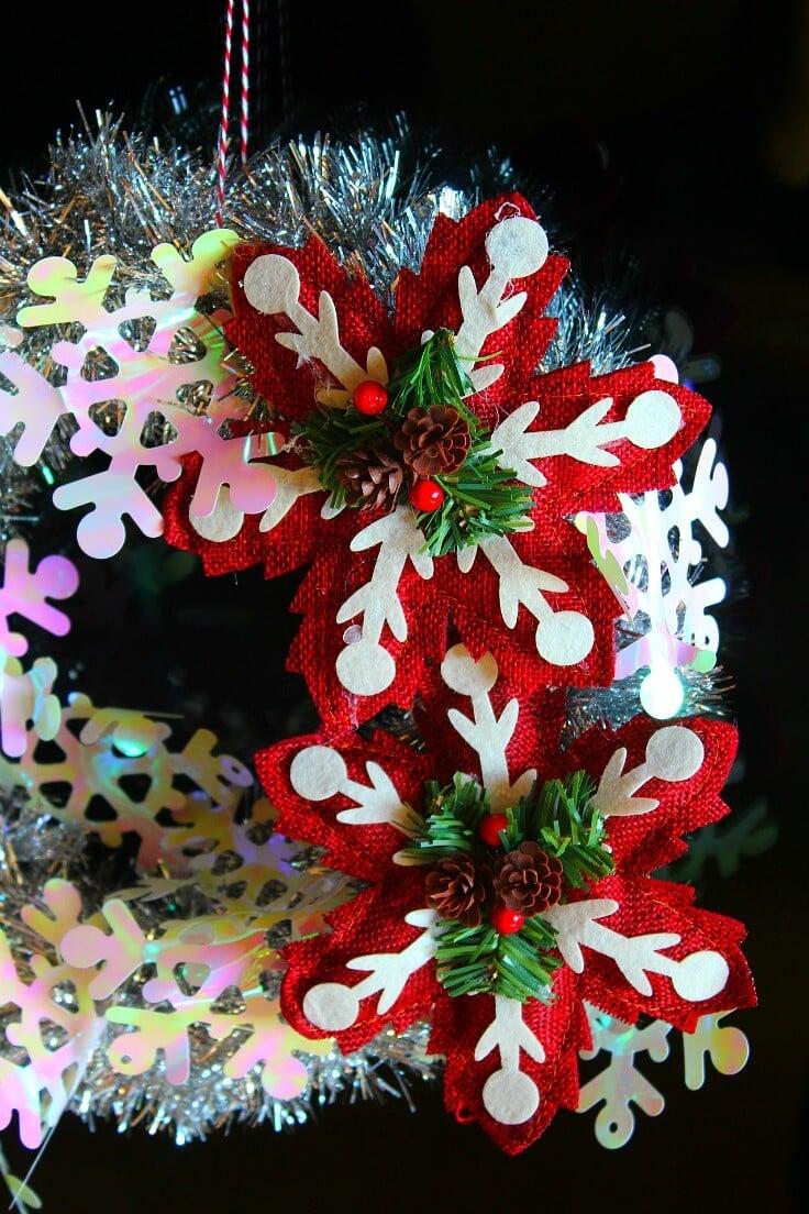 Tinsel Christmas wreath