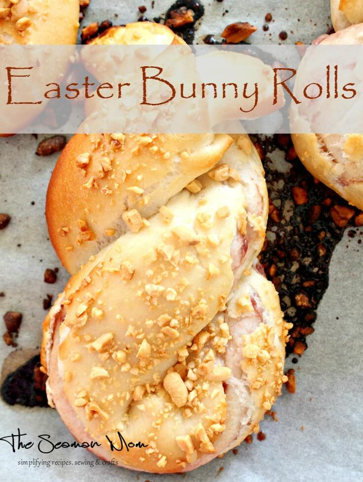 Add some cuteness to your Easter table with these delicious Easter bunny rolls.