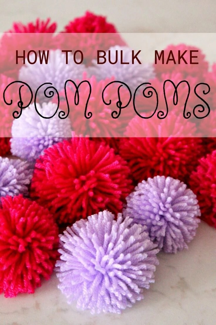 make your own rug with pom poms