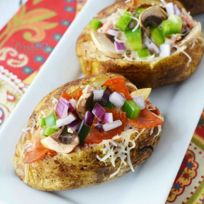 Lip-smacking Pizza Baked Potatoes You Will Just Have To Make