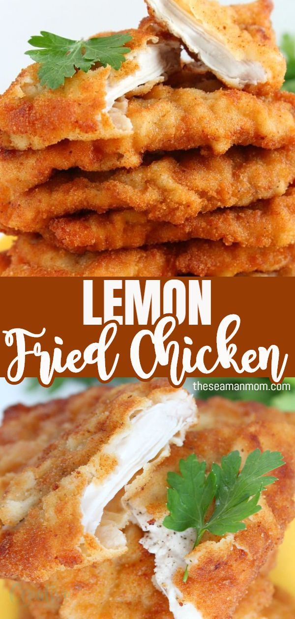 Learn to make delicious, golden, crispy chicken with this recipe for lemon fried chicken! This easy lemon chicken recipe creates tender/crispy chicken breast pieces with a lovely golden coating, great to serve with mashed, boiled or fried potatoes and a big bowl of healthy salad! via @petroneagu