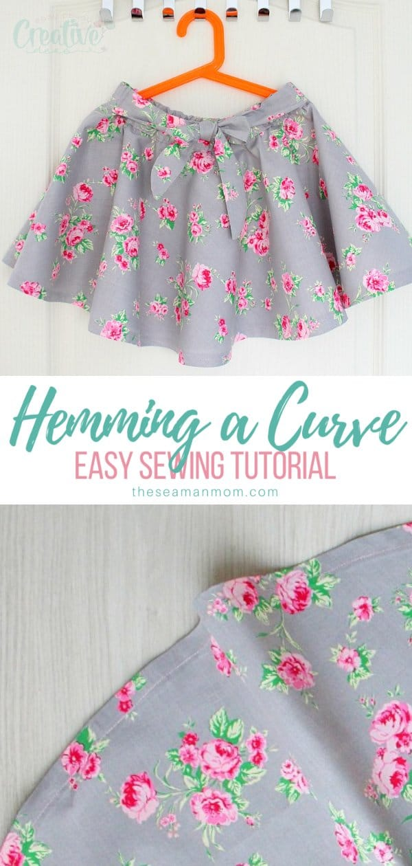 Learning how to make a curved hem comes in very handy, especially when making dresses or circle skirts. Here is an easy method that will give you a smooth, neat finish on any curved hem. via @petroneagu