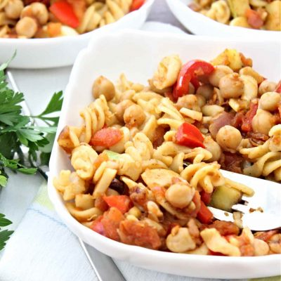Tomato Chickpea Pasta Recipe