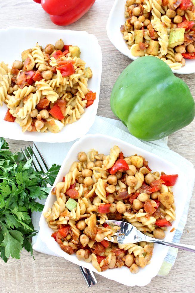 pasta and chickpeas