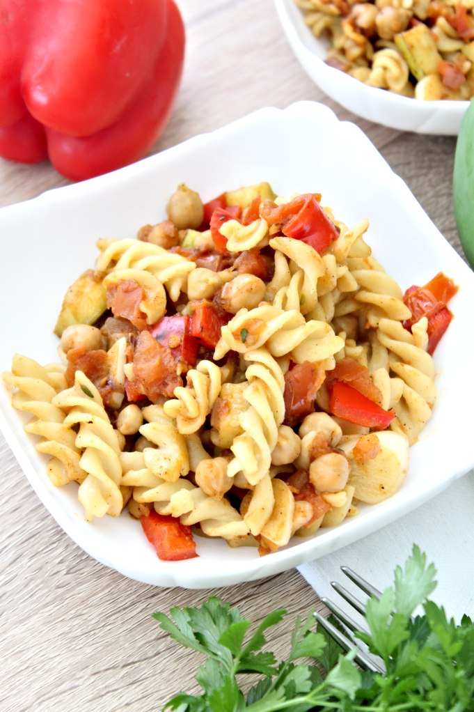 Pasta with chickpea