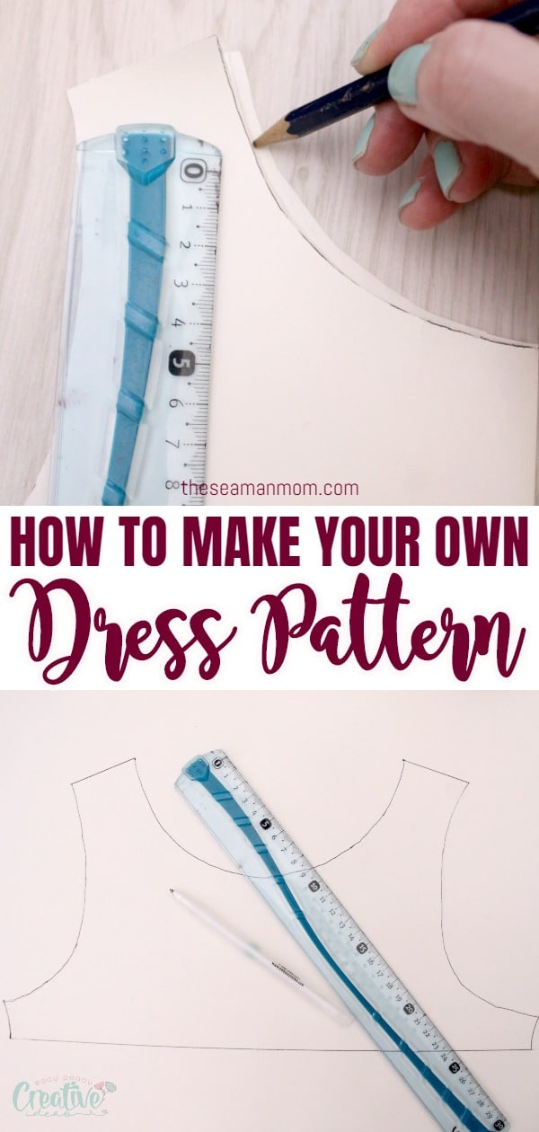 Ever wanted to learn how to make a dress pattern and create your own dresses that fit you perfectly? This simple and easy dress pattern making tutorial will teach you how to make your own dress pattern in a snap! via @petroneagu