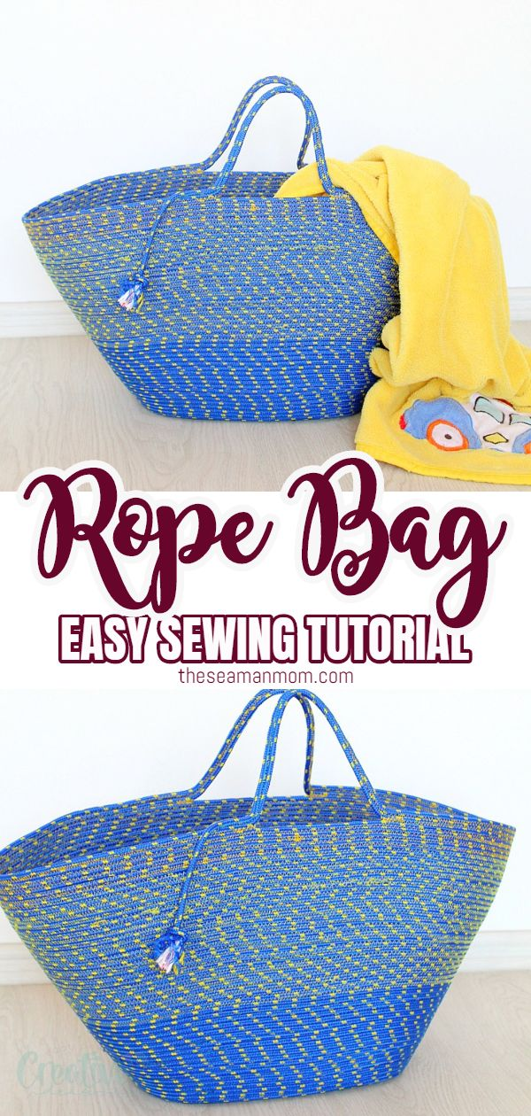 Learn how to make a rope bag and build a fabulous rope tote, using your basic sewing skills and some humble rope. This cool rope bag is perfect for the beach, the market or for picnics! via @petroneagu