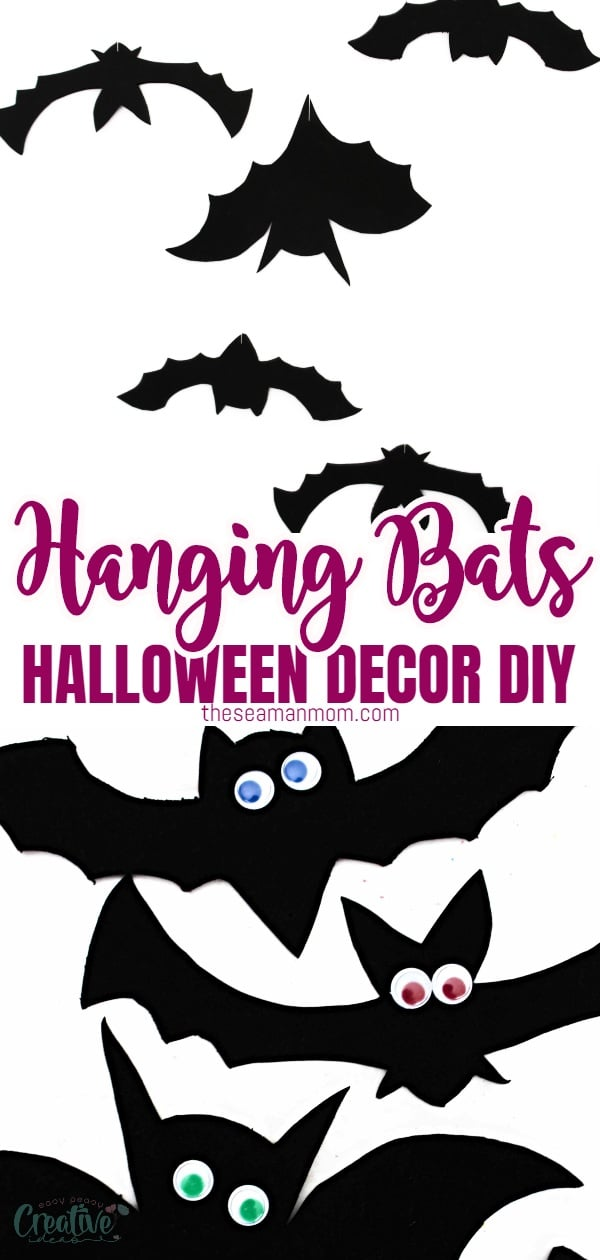 This Halloween, wow your guests and trick-or-treaters with some amazing hanging bat decorations! This easy peasy Halloween bat decor DIY is cute but spooky and frightfully fun enough to keep the kids excited about Halloween! via @petroneagu