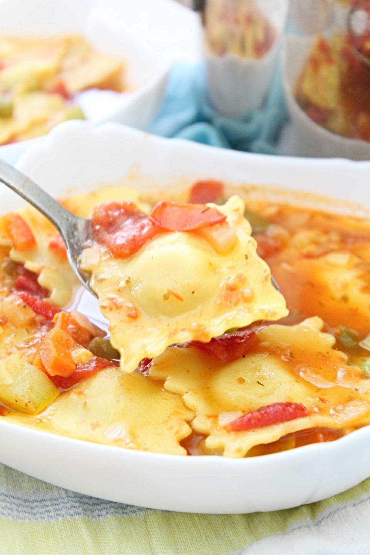 cheese ravioli soup