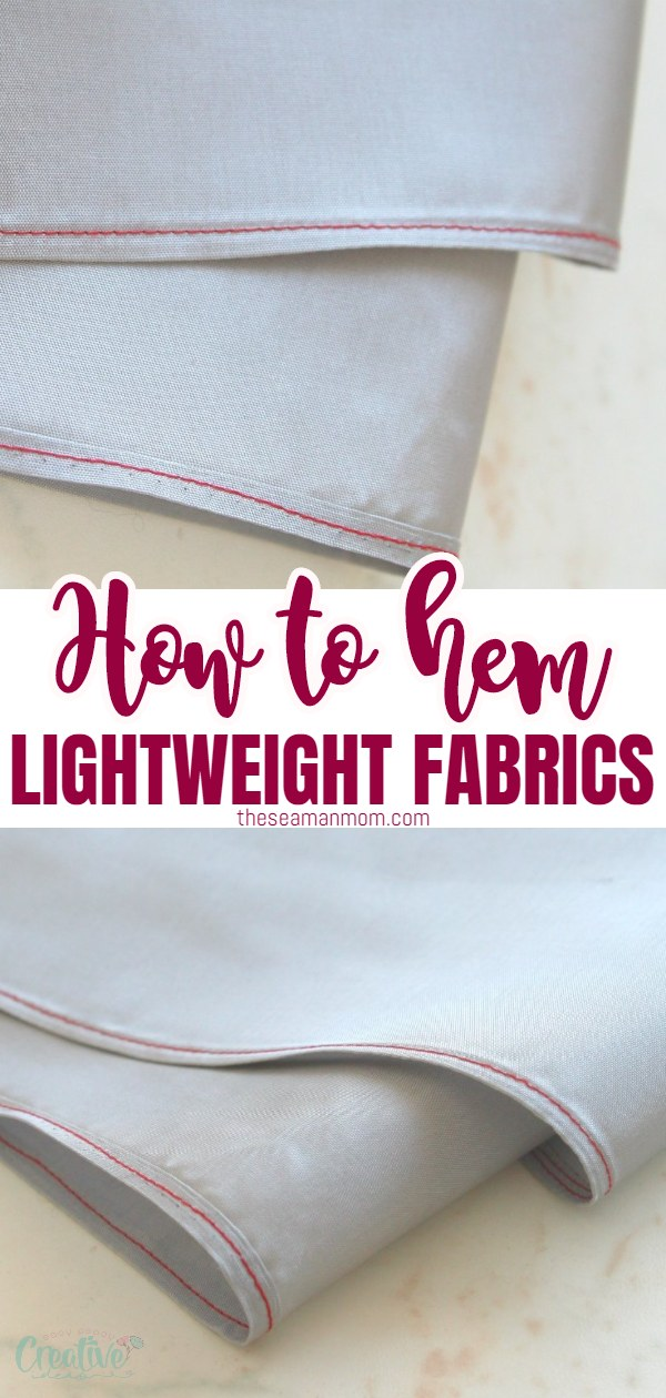 Lightweight fabrics are so beautiful to use in your sewing projects but sewing sheer fabric can be a pain to hem. Here's how to hem sheer fabric like a pro! via @petroneagu