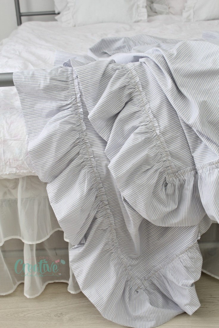 DIY linen throw